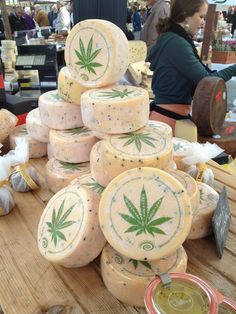 A cheese to make you smile. Hanfkäse on sale in Bern today ^__^, :)