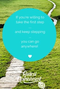 keep stepping...you're on your way  xoxo