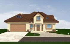 Projekt domu Maja 3 Square House Plans, House Floor Plans, Construction, Home Fashion, Building A House, Flooring, House Styles, Houses, Home Decor