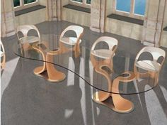 Fantastic Dining Table Chairs Carpanelli 2 | Design | Pinterest |  Contemporary Kitchen Tables, Curved Wood And Contemporary