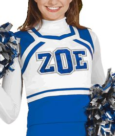 ZOE Sweetheart Cheerleading Uniform Top - 8 popular colors available
