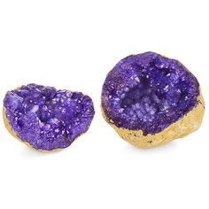 Decorative Geode Purple Rocks Crystals Minerals & Petrified Wood ($19) ❤ liked on Polyvore featuring home, home decor, decorative accessories, purple home accessories, geode home decor, philmore and purple home decor