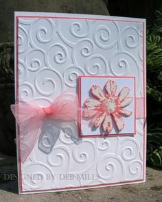 sample 2 by 88 keys - Cards and Paper Crafts at Splitcoaststampers (Petal Prints set, Cuttlebug folder)Abigail's wed. sample 2 by 88 keys - Cards and Paper Crafts at Splitcoaststampers (Petal Prints set, Cuttlebug folder) Cricut Cards, Stampin Up Cards, Wedding Anniversary Cards, Embossed Cards, Happy Birthday Cards, Cute Cards, Quick Cards, Homemade Cards, Homemade Wedding Cards