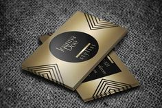 Stylish gold fashion stylist business card template. This design is available for free download as Adobe Photoshop (PSD) file.