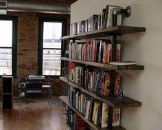 Pipe Bookshelf for @tmatthewc