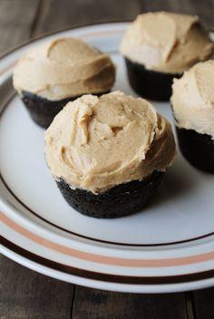 decadent dark chocolate & peanut butter cupcakes