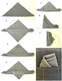 This is how you fold a pocket square like a pro. - This is how you fold a pocket square like a pro. - This is how you fold a pocket square like a pro. - This is how you fold a pocket square like a pro. Pocket Square Folds, Pocket Square Styles, Men's Pocket Squares, Pliage Pochette Costume, Mens Fashion Suits, Mens Suits, Style Gentleman, Tie A Necktie, Style Masculin