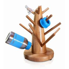 organicKidz introduces the first sustainable non-plastic baby bottle drying rack! Our 'baby bottle tree' is made from eco-friendly, renewable bamboo so it doesn't leach toxins and is naturally bacteri