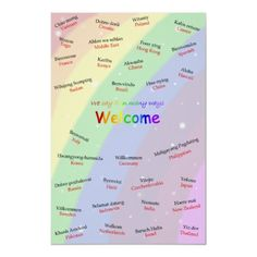 Multilingual ESL Welcome Poster from http://www.zazzle.com/esl+posters