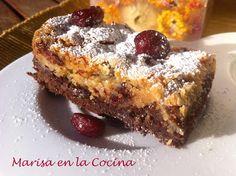 Brownie a dos Chocolates con Arándanos y Jengibre
