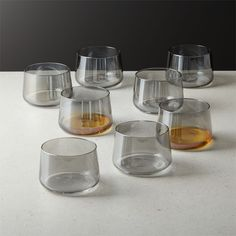 Neat Smoke Tasting Glass Set of 8 Modern Cocktail Glasses, Cranberry Vodka, Old Fashioned Glass, Highball Glass, Drink Dispenser, Drinking Glass, Dinnerware Sets, Crate And Barrel, Tea Pots