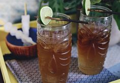 Tiki Cocktail: Spiced Dark & Stormy Recipe - Discover Spicy Drinks, Alcoholic Beverages, Cocktail Recipes, Drink Recipes, Cocktails, Tiki Cocktail, Dark & Stormy, Masterpiece Theater, Volcano