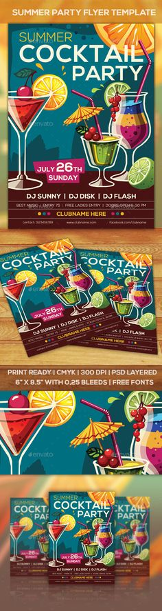 Beach Or Summer Party Flyer  Party Flyer Infographics And Flyer