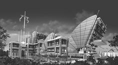 I believe that filipino architects Modern Architecture Design, Architecture Portfolio, Architecture Plan, Modern Design, Filipino Architecture, Wood Railing, White Brick Walls, Light Of Life, Portfolio Design