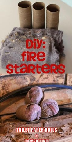 Nice Camping fore starters, simple! Dryer lint and paper towel/ toilet paper tubes. D...