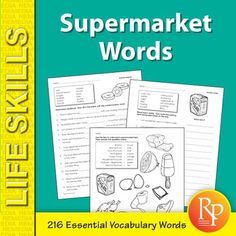 Grocery Words Adorable Independent Living Words  Teaching Life Skills Activities And Students