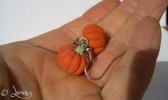 Pumpkin earrings, sütőtök fülbevaló