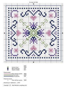no color chart available, just use the pattern chart as your color guide. or choose your own colors.A PUNO DE CRUZ Biscornu Cross Stitch, Mini Cross Stitch, Cross Stitch Flowers, Cross Stitch Embroidery, Embroidery Patterns, Cross Stitch Designs, Cross Stitch Patterns, Cross Stitch Boards, Crochet Cross