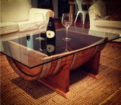 wine barrel coffee table (17450) | iwa wine accessories | wine