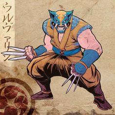 Japanese Feudal Style X-Men Fan Art - Media Chomp Superhero Characters, Comic Book Characters, Comic Books Art, Comic Art, Marvel Comics Superheroes, Marvel Heroes, Wolverine Art, Comics For Sale, Marvel Comic Character