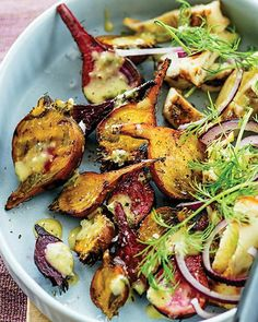 Grilled Beets & Havarti Cheese with Mustard Vinaigrette