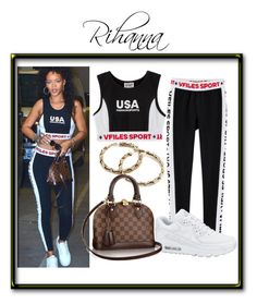 """""""Rihanna"""" by no-flex-zone ❤ liked on Polyvore featuring VFiles, NIKE, Gogo Philip, USA, louisvuitton, Rihanna and 90max"""