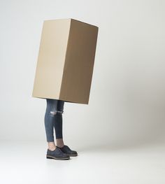 Inbox.*  Anonymous Claustrophobic Performance.  *Inspired by the series «One Minute Sculptures» by Erwin Wurm. #rasshoes #box #inbox #model #outofthebox #FW15 #fashion #style #loafers