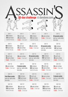 An Assassin's Creed workout challenge for 30 days.  Something I say I'm going to do...but in the end will not.