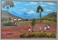 Geraldo Silva - Rural - óleo sobre chapa dura - 40x60 cm.