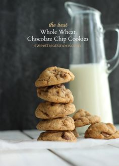 The Very Best Whole Wheat Chocolate Chip Cookies. Made these tonight! They are really great! No one even noticed (or even believed) that these were whole wheat. I also used dark chocolate morsels! Yum yum!