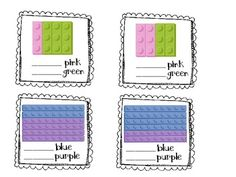 Here's a set of task cards for identifying fractions. These use LEGO images!