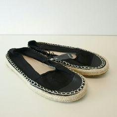 Torrid Black Espadrille Flat Shoes Size 10W Wide Has faux leather toe, jute trim textured edge & wide width. Torrid Shoes Espadrilles