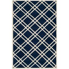 281.73 Safavieh Chatham Dark Blue/Ivory 6 ft. x 9 ft. Area Rug-CHT740C-6 - The Home Depot