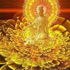 The Christ Era And The Ascension Progress In America And Europe - Guan Yin Lakshmi Images, Kinds Of Energy, Durga Goddess, Guanyin, Buddhist Art, Mellow Yellow, Gods And Goddesses, Ganesh, Magick