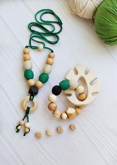 Teething Necklace For Mom, Teething Bracelet, Teething Jewelry, Nursing Necklace, Diy Necklace, Diy Teething Toys, Breastfeeding Accessories, Kids Headbands, Baby Massage