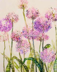 Purple alliums Glass Vase, Purple, Gallery, Floral, Decor, Art, Art Background, Decoration, Roof Rack