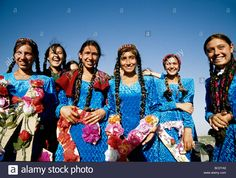 Turkmen school girls in traditional costume for public performance Stock Photo, Royalty Free Image: 24605345 - Alamy