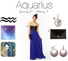 """Zodiac Fashion - Aquarius"" by sarajohnson-fashionstylist on Polyvore"