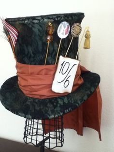 Mad hatter home-made hat.