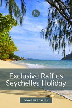 The luxurious Raffles Praslin Seychelles resort is an exceptional beach retreat. Seychelles Resorts, Praslin Seychelles, Hillside Garden, Best Resorts, Luxury Holidays, Vacation Travel, Seychelles Holidays, Travel Tips, Africa