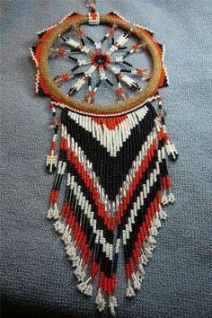 Awesome Unique Beaded w Quills Dreamcatcher Story