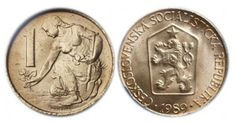 Mince 1 Kčs Retro 2, Commemorative Coins, Socialism, Old And New, Childhood Memories, Texture, Personalized Items, Design, Color