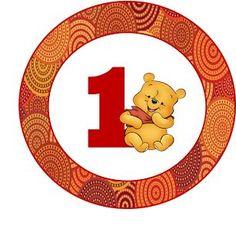 Kit de Winnie the Pooh en su Primer Año para Imprimir Gratis.: