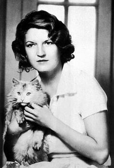 A novelist in her own right, Zelda Fitzgerald was married to F. Scott Fitzgerald. She is seen here in 1929, with her cat