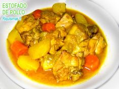 Spanish Recipes, Spanish Food, Thai Red Curry, Ethnic Recipes, Stew, Potatoes, Chicken, Postres, Meals