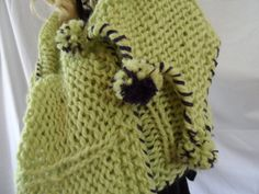 GROW GREENLight Green Scarf Extra long 100 by nouveauvintageltd, $75.00