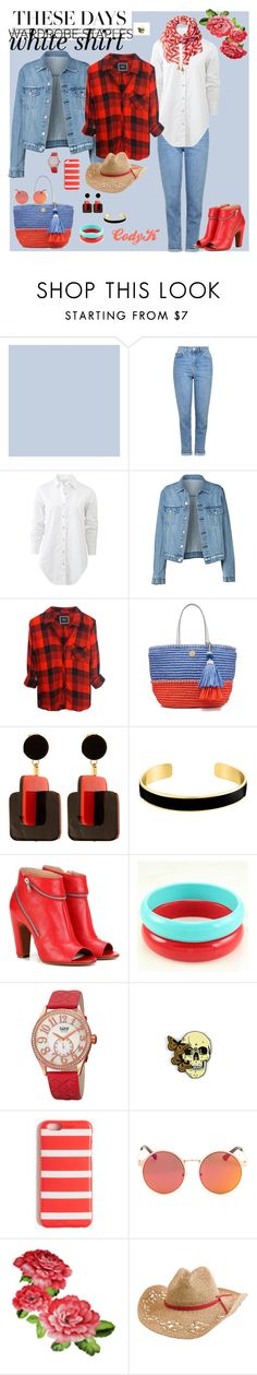 """Wardrobe Staples ~ White Shirt contest"" by cody-k ❤ liked on Polyvore featuring Topshop, rag & bone, Tory Burch, Marni, VANINA, Maison Margiela, bürgi, J.Crew, Quiksilver and San Diego Hat Co."