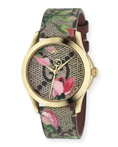 0eeec0f1669 Get free shipping on Gucci 38mm G-Timeless Watch w  GG Supreme Canvas Strap