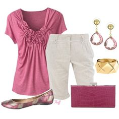 rosey posey, created by fluffof5 on Polyvore