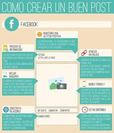 Cómo crear un buen post en FaceBook vía: http://www.mireiallobera.com/ #infografia #infographic #socialmedia
